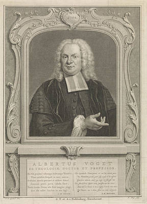 Manger Drawing - Portrait Of Albertus Voget, Pieter Tanjé by Quint Lox