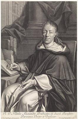 Disturbing Drawing - Portrait Of Alexandre Nol, Pieter Van Schuppen by Pieter Van Schuppen