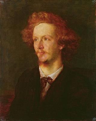 Redheads Photograph - Portrait Of Algernon Charles Swinburne 1837-1909 1867 Oil On Canvas by George Frederick Watts