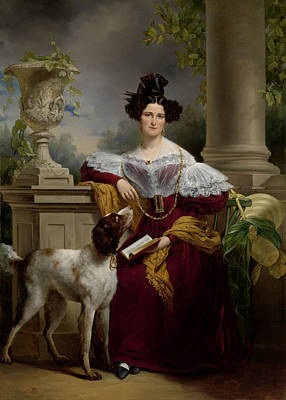 Christina Drawing - Portrait Of Alida Christina Assink, 1810 - 1886 by Quint Lox