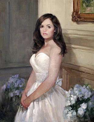 Painting - Portrait Of Allison by Chris  Saper