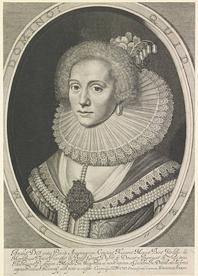 Portrait Of Amalia Van Solms, Anonymous Art Print by Willem Jacobsz. Delff
