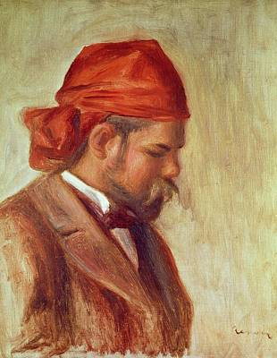 Impressionist Photograph - Portrait Of Ambroise Vollard 1868-1939 Oil On Panel by Pierre Auguste Renoir