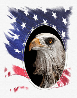 Portrait Of America Art Print by Tom Mc Nemar