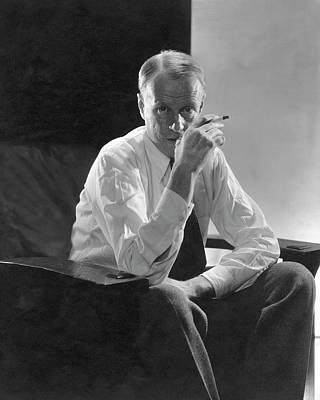 Portrait Of American Writer Sinclair Lewis Art Print