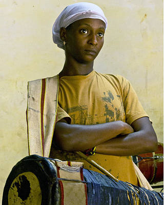 Portrait Of An Afro-cuban Drummer Art Print