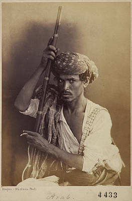 Yemen Photograph - Portrait Of An Arab Man by British Library