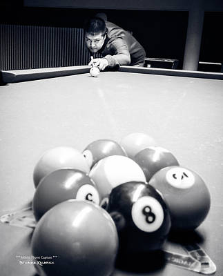 Photograph - Portrait Of An Awesome Pool Player by Stwayne Keubrick