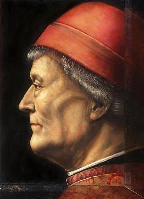 Vincenzo Foppa Painting - Portrait Of An Elderly Gentleman by Vincenzo Foppa