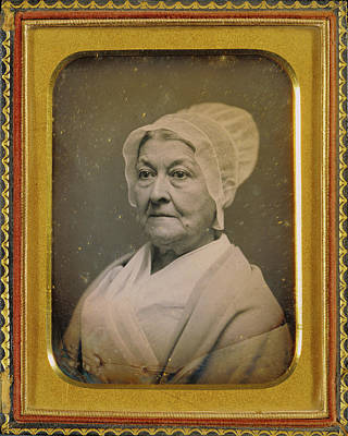 Portrait Of An Elderly Woman In An Amish-like Bonnet Art Print by Litz Collection