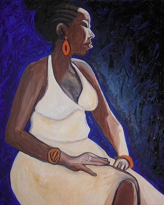 Painting - Portrait Of An Ethiopian Woman by Esther Newman-Cohen