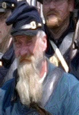 Portrait Of An Old Union Soldier Perryville Ky Print by Thia Stover