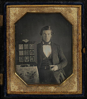 Selection Drawing - Portrait Of An Unidentified Daguerreotypist Displaying by Litz Collection