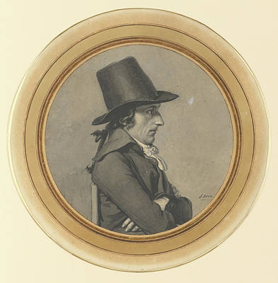 Indian Ink Drawing - Portrait Of André-antoine Bernard, Called Bernard De by Litz Collection