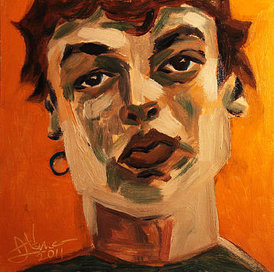 Painting - Portrait Of Andrea by Jim Vance
