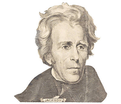 Photograph - Portrait Of Andrew Jackson On White Background by Keith Webber Jr