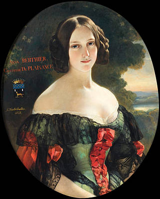 Painting - Portrait Of Anna Berthier Countess Of Plaisance by Franz Xaver Winterhalter