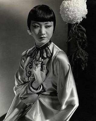 Chinese Embroidery Photograph - Portrait Of Anna May Wong by Edward Steichen