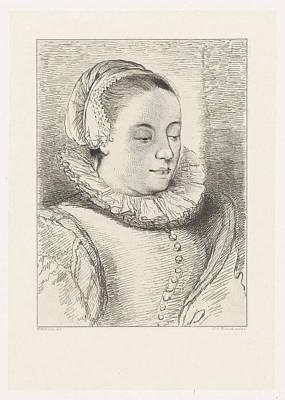 Roemer Drawing - Portrait Of Anna Roemers Visscher, Print Maker Johannes by Artokoloro