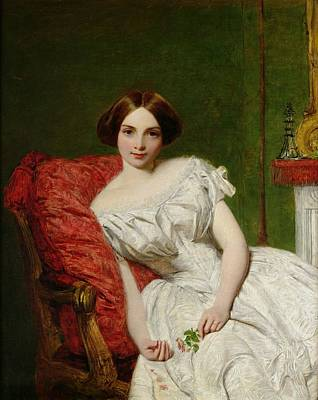 Furniture Painting - Portrait Of Annie Gambart by William Powell Frith