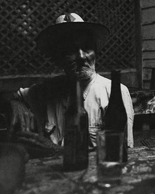 Table Wine Photograph - Portrait Of Anselmo by Leland Hayward