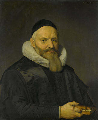 Theology Drawing - Portrait Of Anthony De Wale, Professor Of Theology In Leiden by Litz Collection