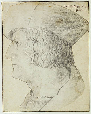 Rem Drawing - Portrait Of Anton Rem Hans Schwarz, German by Litz Collection