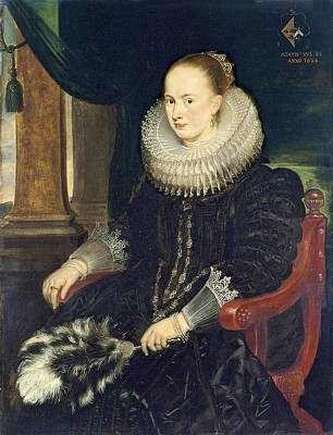 Cornelis De Vos Painting - Portrait Of Antonia Canis by Cornelis de Vos