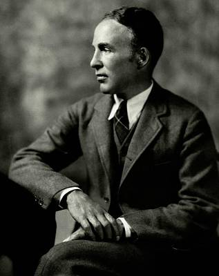 Cross Legged Photograph - Portrait Of Archibald Macleish by Ben Pinchot