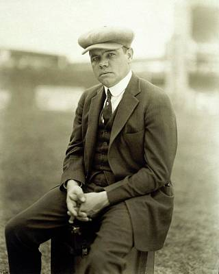 Ruth Photograph - Portrait Of Babe Ruth by Arnold Genthe