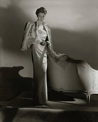 Portrait Of Barbara Cushing Print by Horst P. Horst
