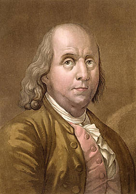 Benjamin Drawing - Portrait Of Benjamin Franklin by Gallo Gallina
