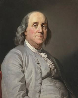 Beers On Tap - Portrait Of Benjamin Franklin by Celestial Images