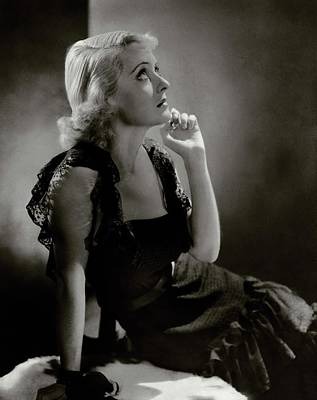 Davis Photograph - Portrait Of Bette Davis by Horst P. Horst