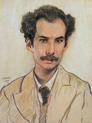 Portrait Of Boris Nikolayevich Bugaev Print by Leon Bakst