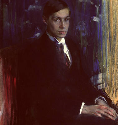 Portrait Of Boris Pasternak Art Print by A A Murashko