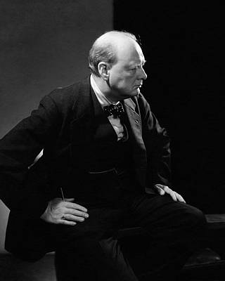 Photograph - Portrait Of British Prime Minister Winston by Edward Steichen