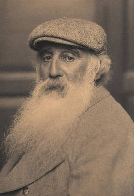 White Beard Photograph - Portrait Of Camille Pissarro 1830-1903 Bw Photo by French School
