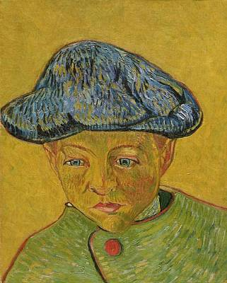 Portrait Of Camille Roulin Art Print by Vincent van Gogh