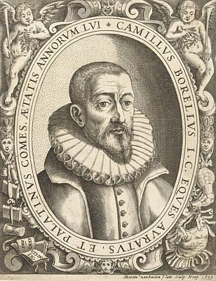 Seventeenth Century Drawing - Portrait Of Camillus Berellius, Martin Van Buyten by Martin Van Buyten