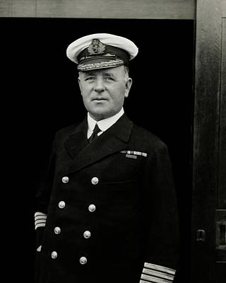 Cruise Liner Photograph - Portrait Of Captain Edward Diggle Wearing by Dana B. Merrill