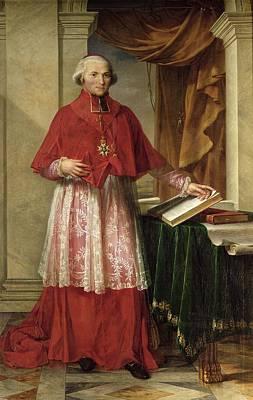 Portrait Of Cardinal Joseph Fesch 1763-1839 1806 Oil On Canvas Art Print by Charles Meynier