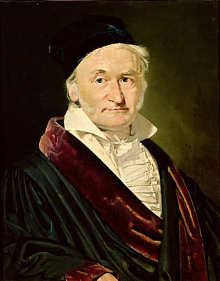 Portrait Of Carl Friedrich Gauss, 1840 Oil On Canvas Art Print by Christian-Albrecht Jensen