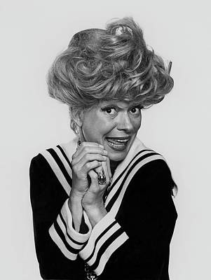 Portrait Of Carol Channing Art Print by Chadwick Hall