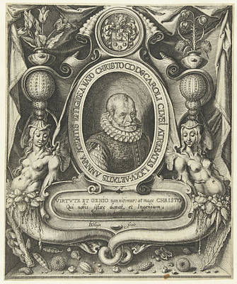Family Crest Drawing - Portrait Of Carolus Clusius At The Age Of 75 by Jacob De Gheyn (ii)