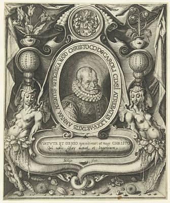 Portrait Of Carolus Clusius At The Age Of 75 Art Print