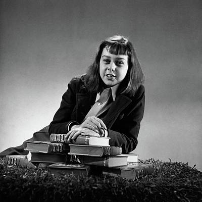 Portrait Of Carson Mccullers Print by John Rawlings