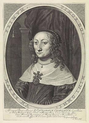 Portrait Of Catherine Charlotta, Countess Palatine Art Print by Theodor Matham