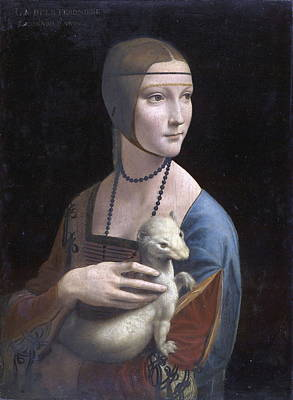 Baptism Painting -  Lady With An Ermine.portrait Of Cecilia Gallerani by Leonardo da Vinci