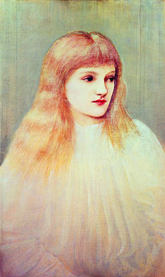Youthful Painting - Portrait Of Cecily Horner, 1895 by Sir Edward Coley Burne-Jones